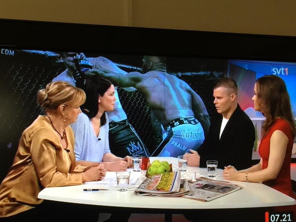Ricard i Godmorron Sverige om MMA