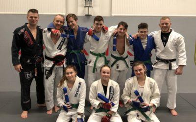 Gradering för våra sport ju-jutsu juniorer